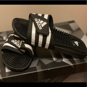 Adidas slides never worn!
